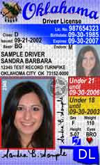 State of Oklahoma Driver License (DL)