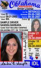 State of Oklahoma Intermediate Driver License (IDL)